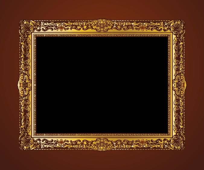 676x563 European Wood Gold Frame Vector Free Vectors Ui Download
