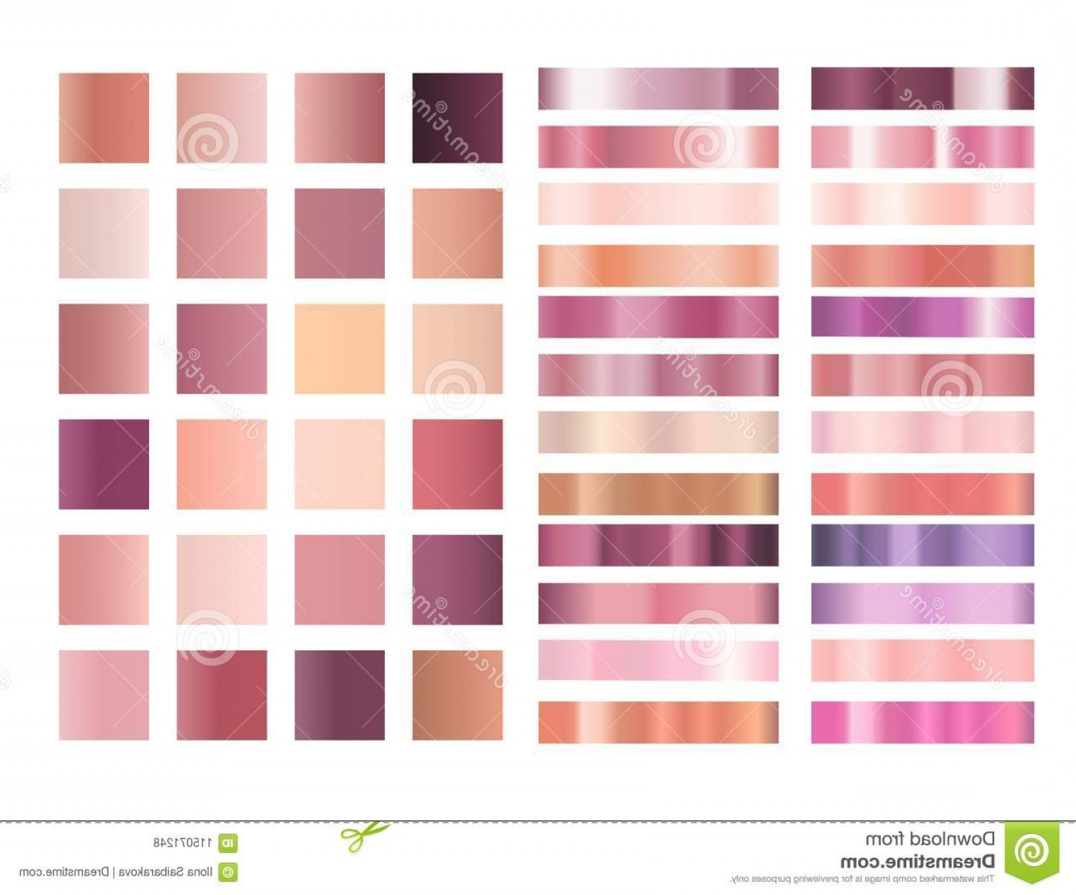 1560x1298 Rose Gold Gradient Vector Collection Rose Gold Pink Gradient