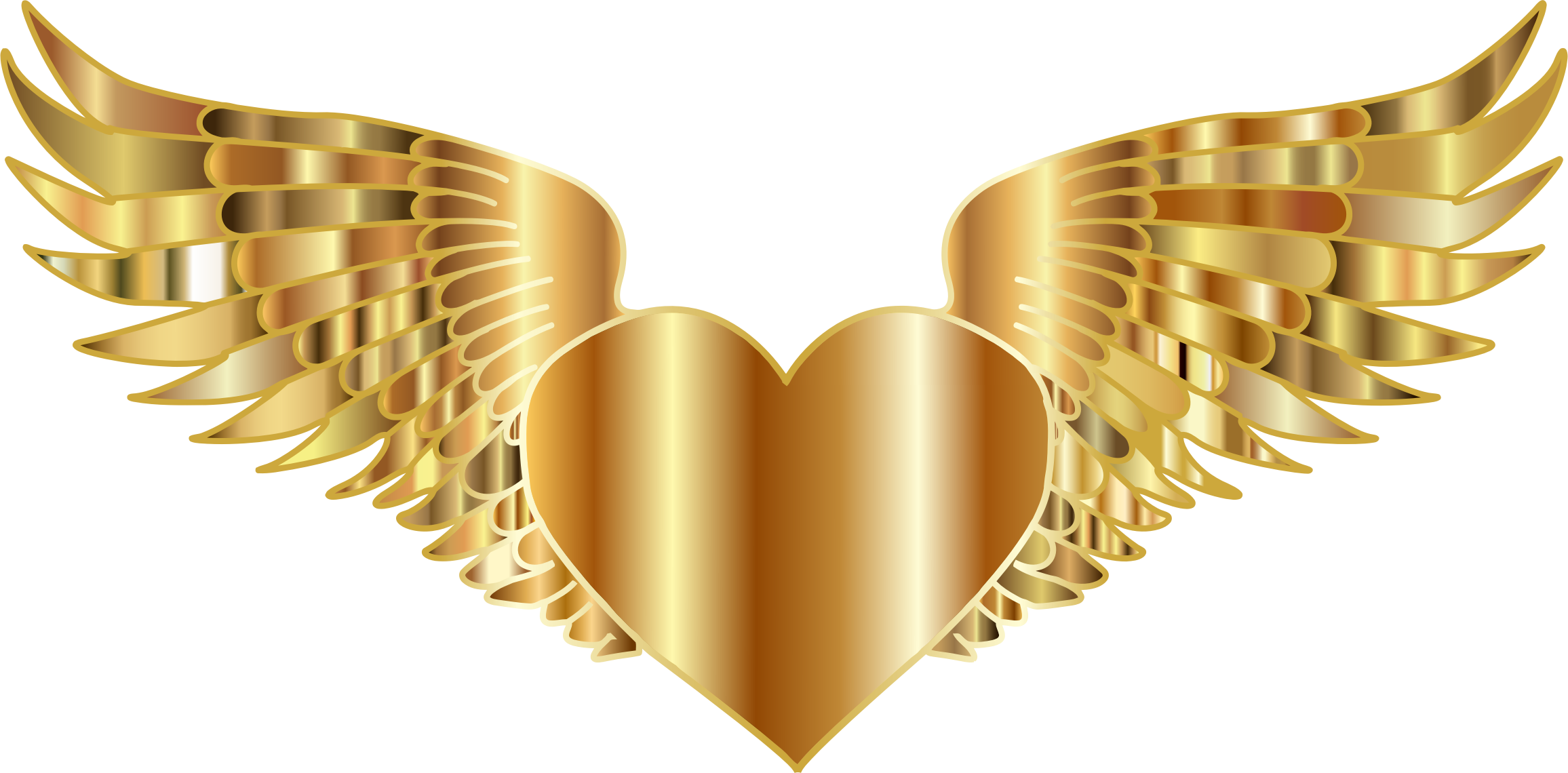 2312x1140 Gold Heart Clipart Freeuse Download