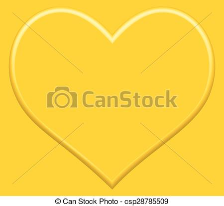 450x413 Gold Heart For The Valentine Day.