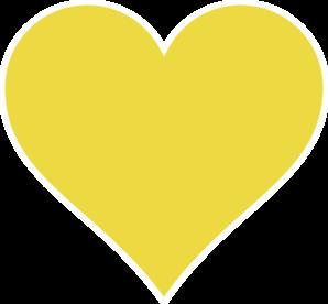 298x276 Gold Heart Clip Art