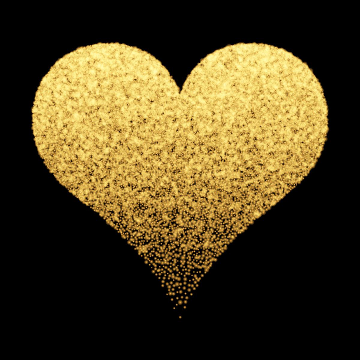 1200x1200 Gold Heart Free Vector Art