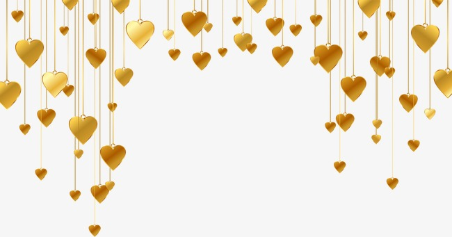 650x341 Gold Heart Shaped Pattern, Golden, Heart Shaped, Star Png And
