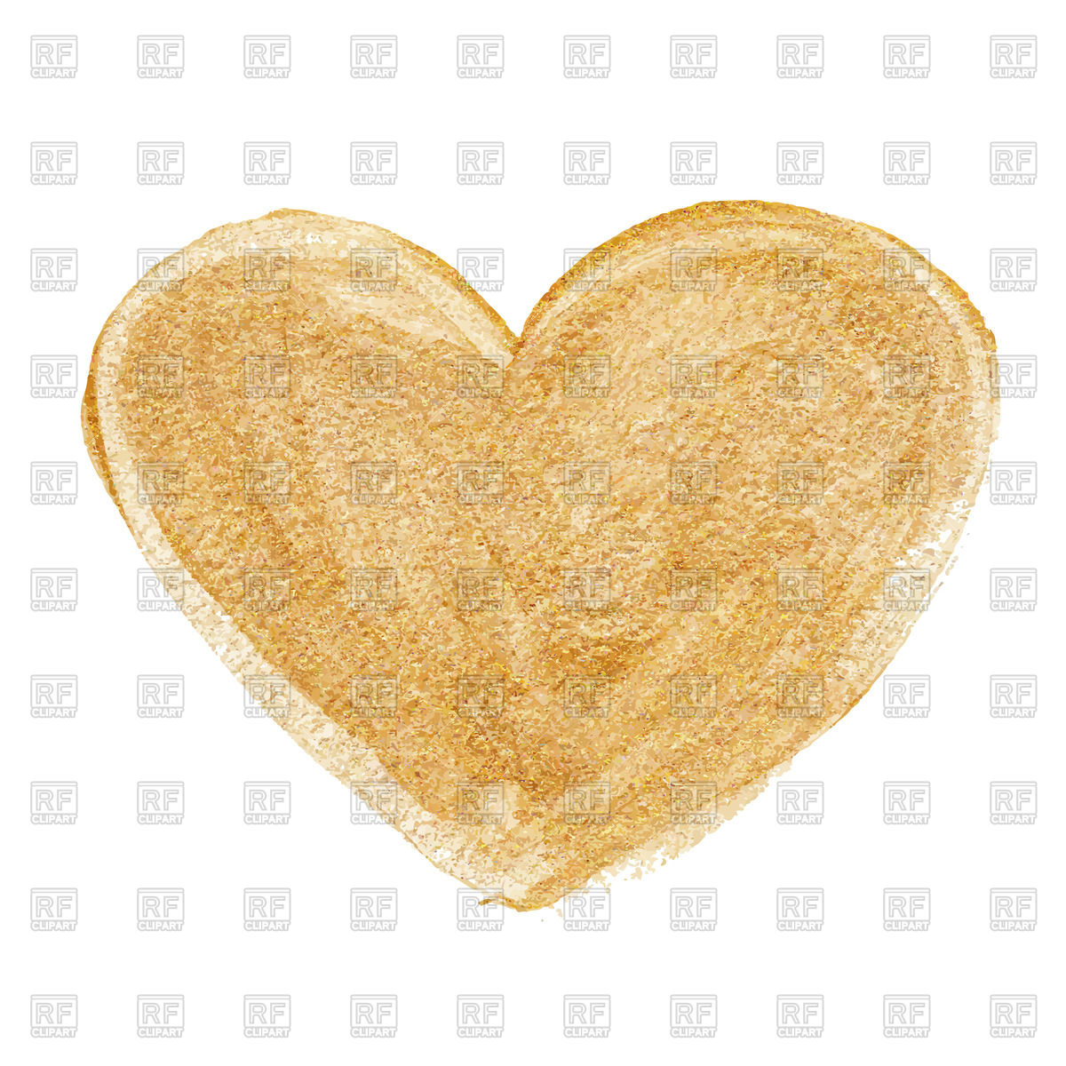 1200x1200 Gold Acrylic Heart Vector Image Vector Artwork Of Objects