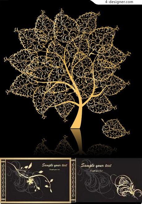 Gold Leaf Vector