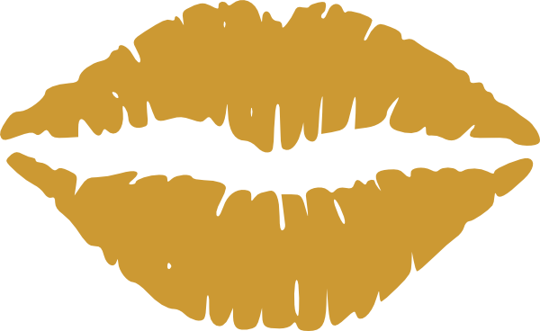 Gold Lips Vector