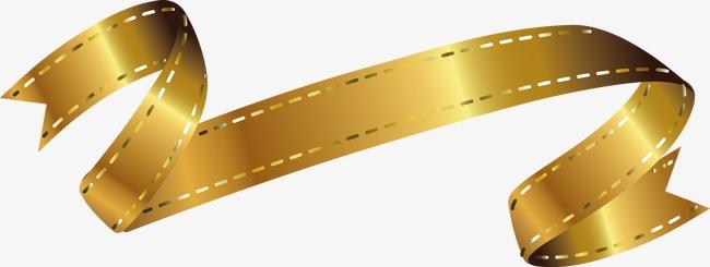 650x245 Gold Ribbon Vector Design, Fashion Labels, Creative Ribbon, Ribbon