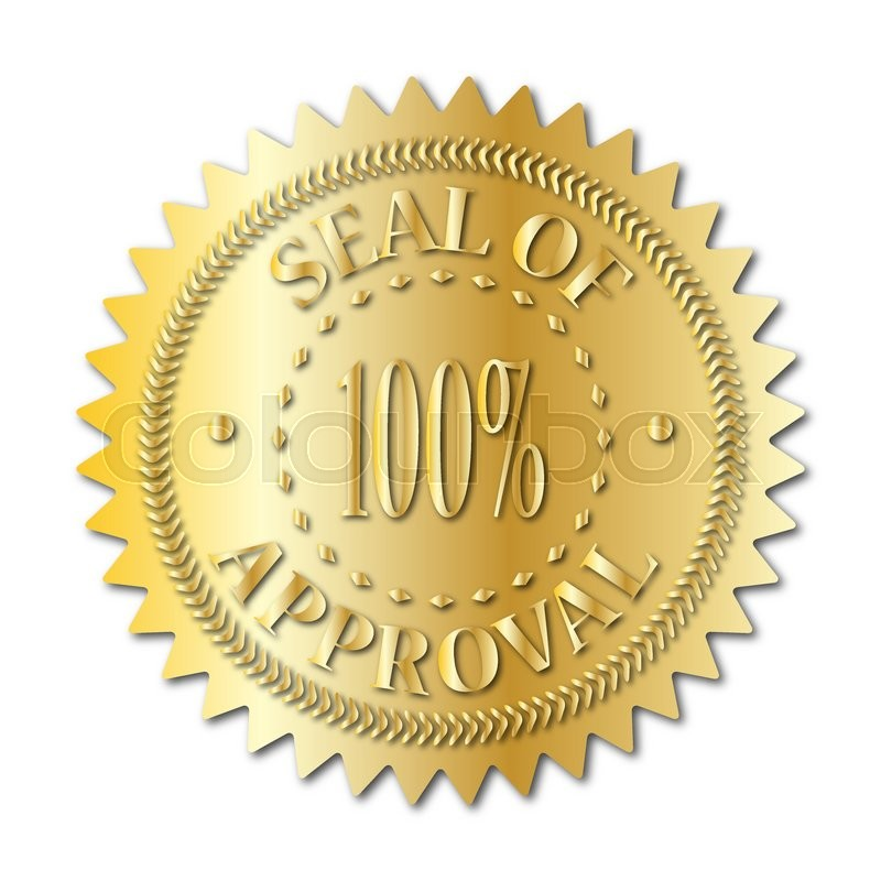 800x800 A Gold Seal Of Approval Badge Isolated On A White Background