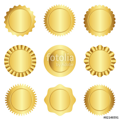 500x500 Gold Seal Stamp Collection Stock Image And Royalty Free Vector