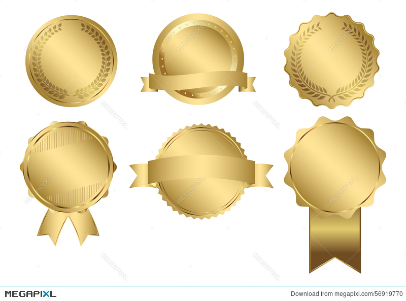 800x593 Vector Badges Of Gold Seal Illustration 56919770