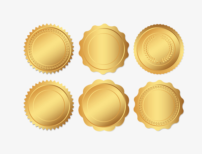 650x497 Vector Gold Seal Illustration, Gold Seal, Gold Award, Illustration