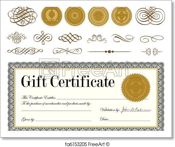 560x470 Free Art Print Of Vector Gold Seal And Certificate Set. Vector