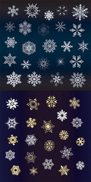 185x368 Gold Snowflakes Free Vector Download (3,941 Free Vector) For