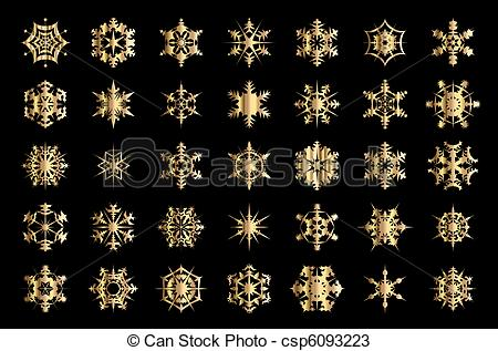 450x317 Gold Snowflakes. Gold Snowflake Vectors.