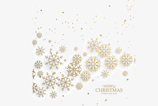 650x439 Golden Snowflake Decoration, Snowflake Vector, Decoration Vector