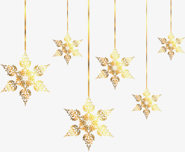 Gold Christmas Ornaments Png.Gold Snowflake Vector At Getdrawings Com Free For Personal
