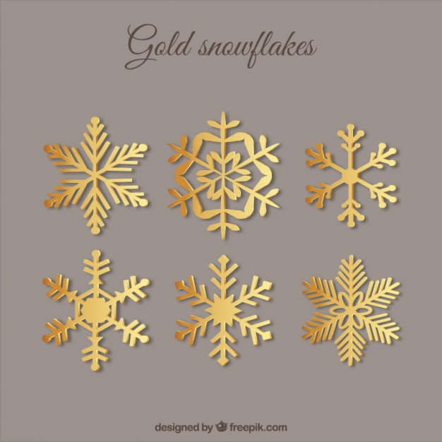 626x626 Golden Snowflakes Vectors, Photos And Psd Files Free Download