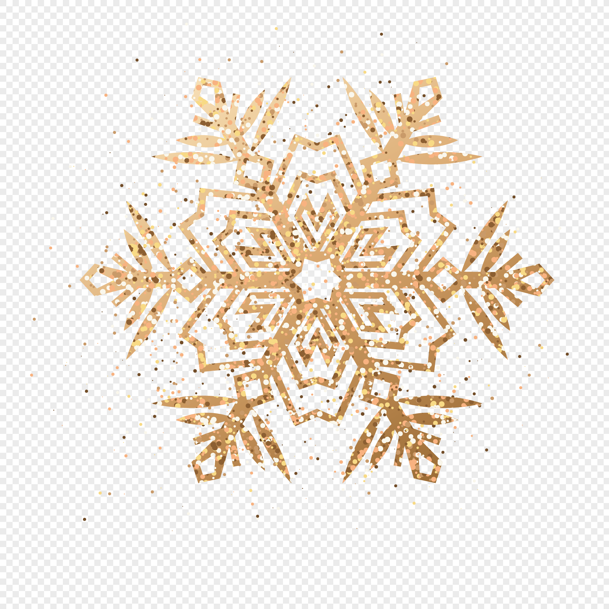 1937x1937 Golden Snowflake Vector Png Image Picture Free Download