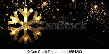 450x223 Christmas Black Banner With Snowflake. Christmas Black Banner With