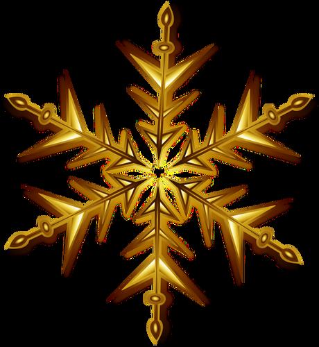 460x500 Vector Illustration Of Golden Snowflake Public Domain Vectors