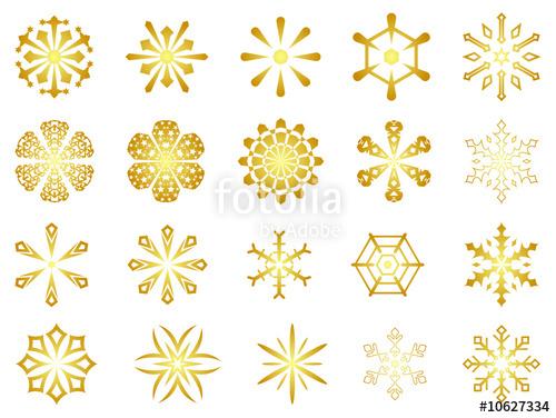 500x376 Gold Snowflakes