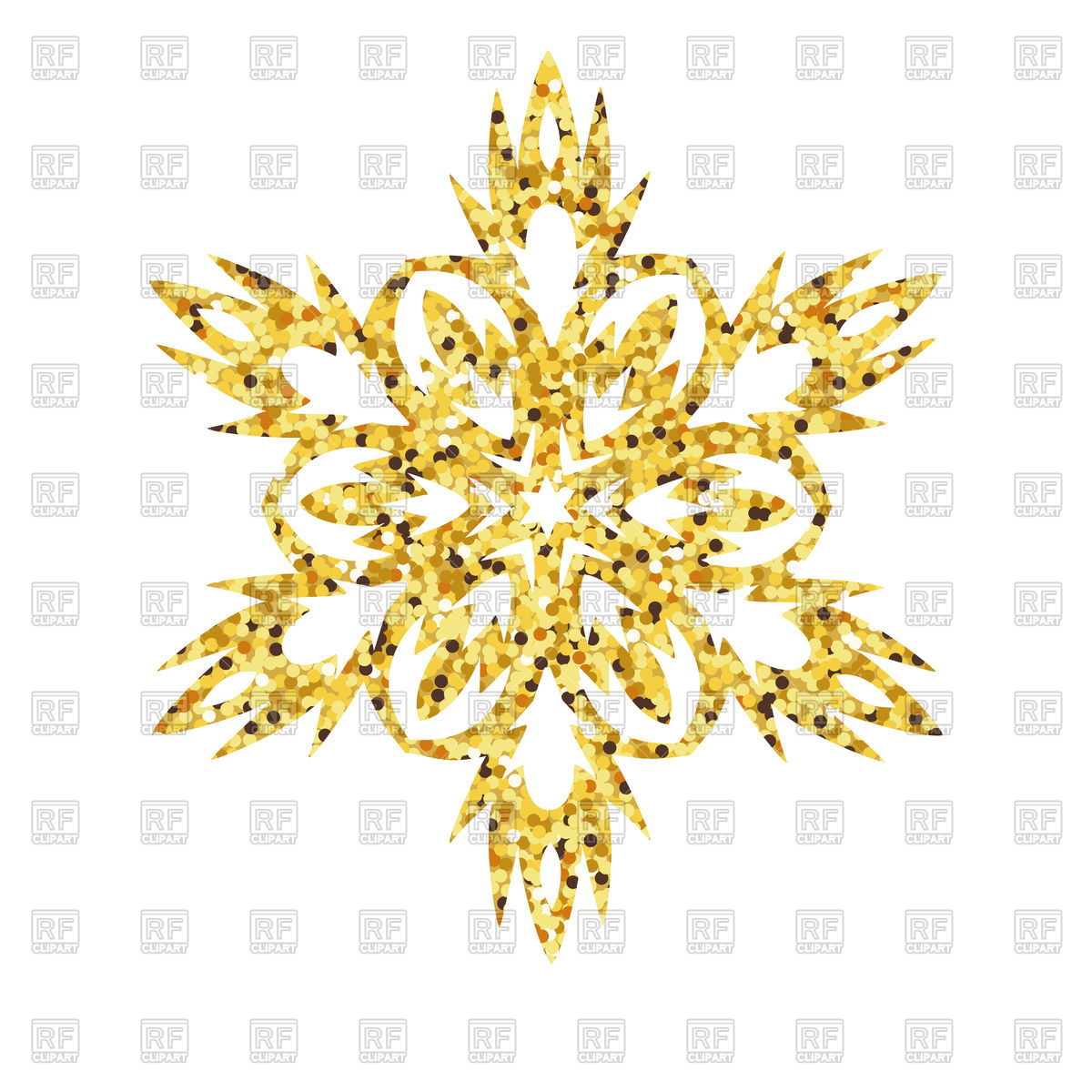 1200x1200 Christmas Gold Card With Snowflake Vector Image Vector Artwork