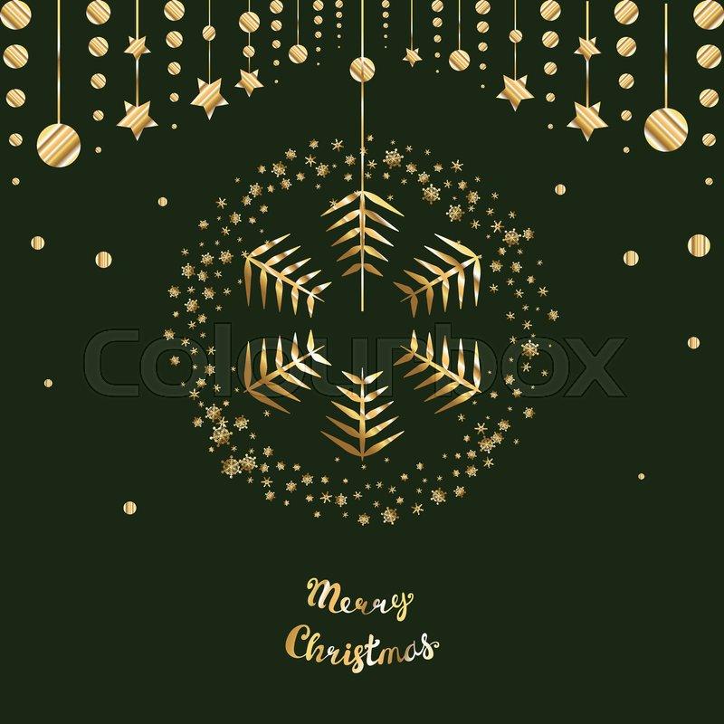 800x800 Christmas Snowflake Vector Icon On Dark Background. Gold Snow Logo
