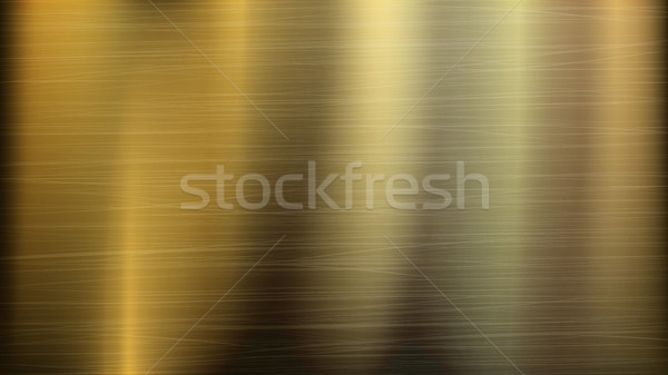600x337 Gold Or Bronze Metal Abstract Technology Background. Polished