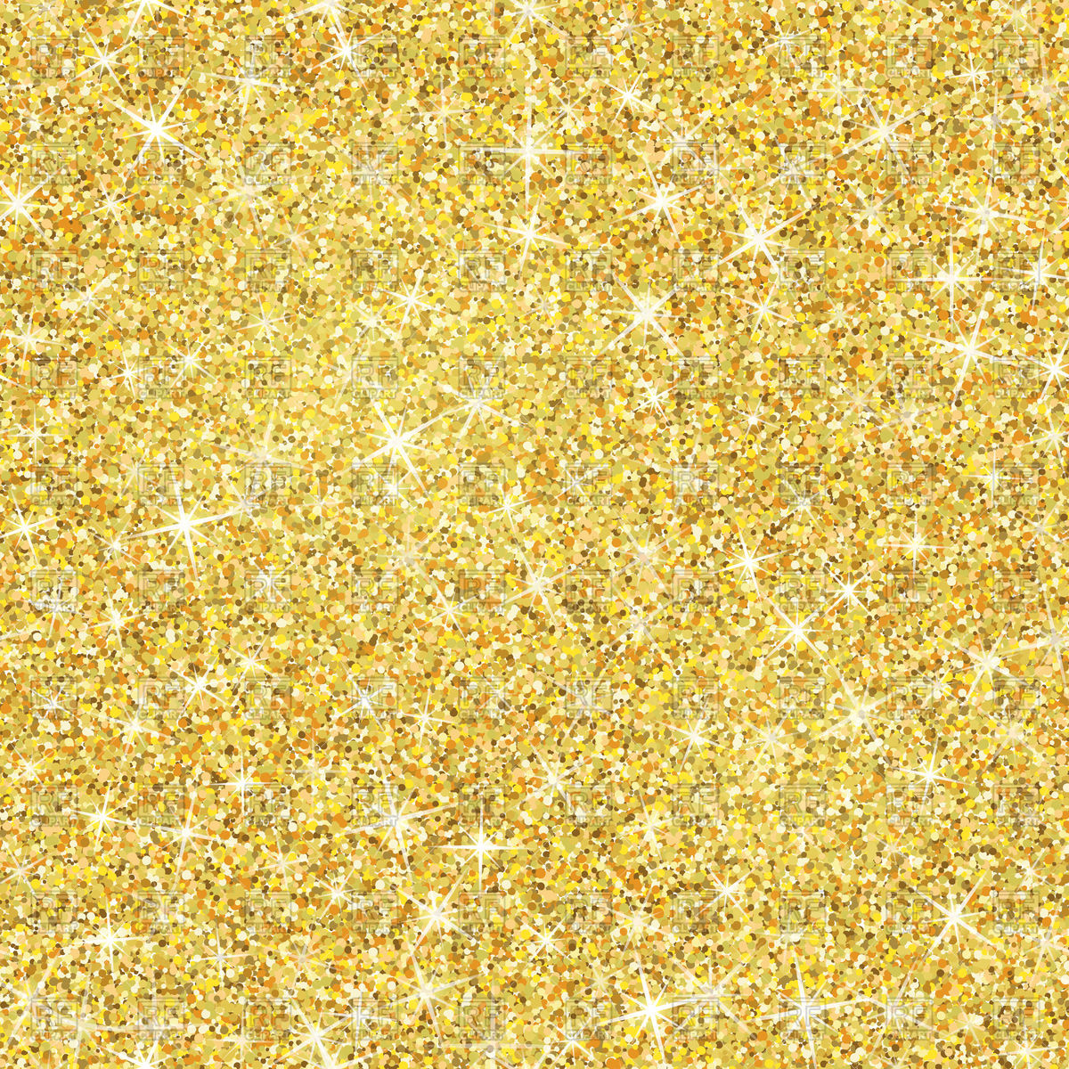 1200x1200 Seamless Gold Glitter Texture Vector Image Vector Artwork Of