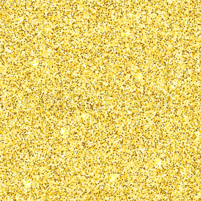 800x800 Bright Gold Glitter Texture Vector Seamless Pattern. Stock