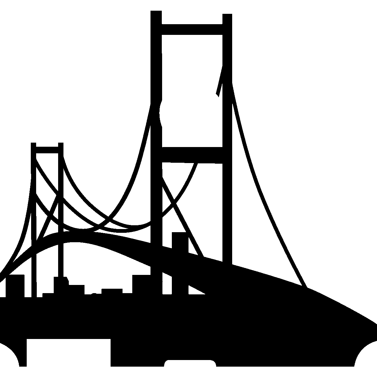 Golden Gate Bridge Vector Art