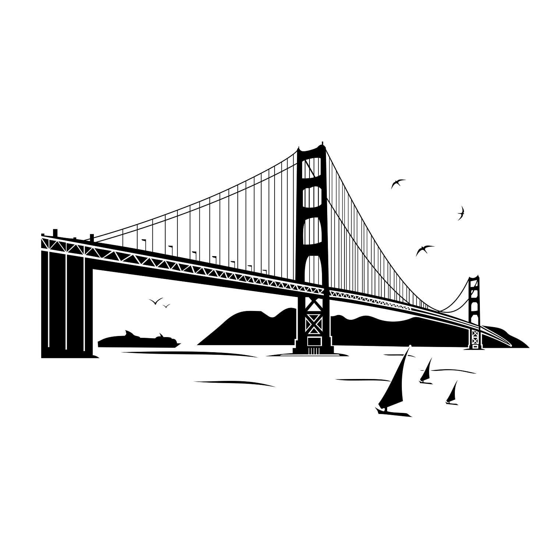 1500x1500 Golden Gate Bridge Graphics Svg Dxf Eps Png Cdr Ai Pdf Vector Etsy