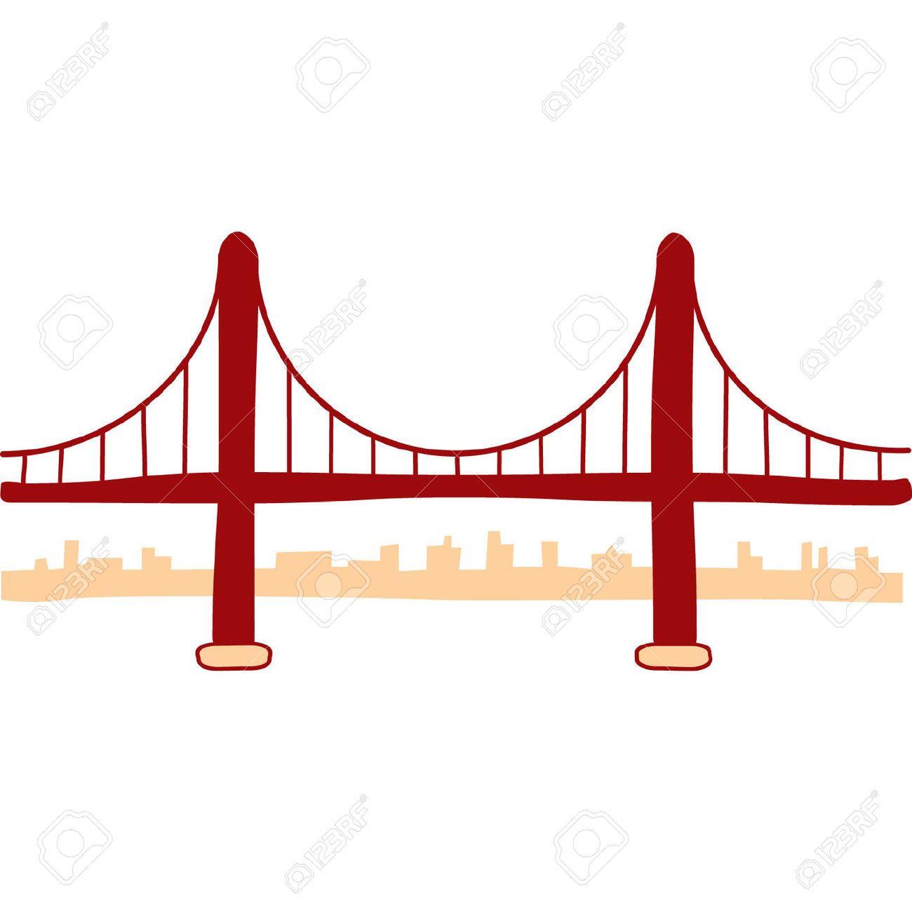 1300x1300 Golden Gate Bridge Vector Art