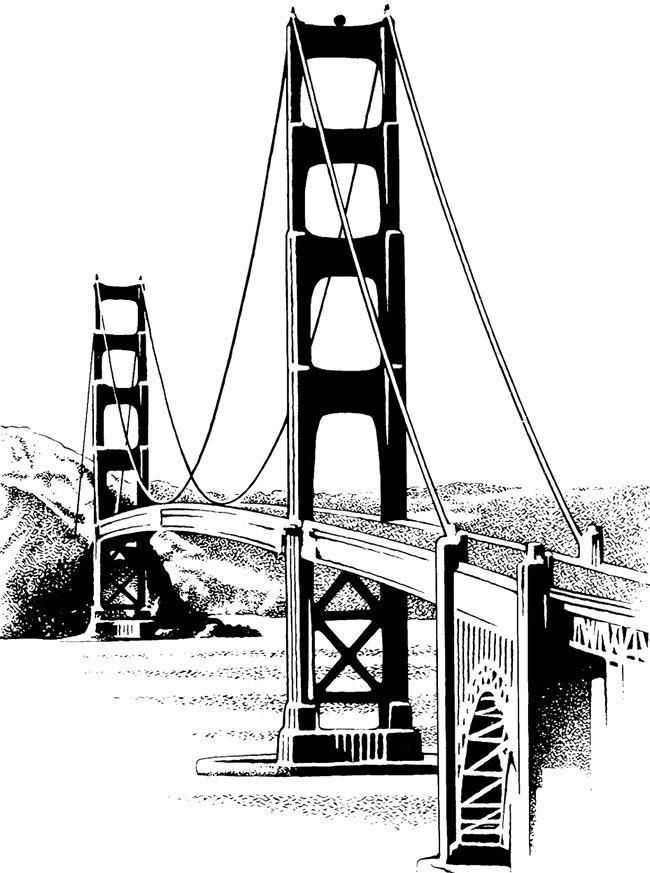 650x873 Golden Gate Clipart