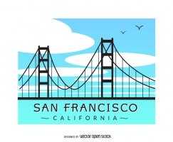 243x200 Golden Gate Bridge Free Vector Graphic Art Free Download (Found