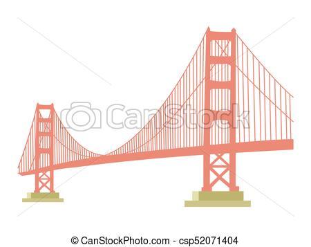 450x357 Golden Gate Bridge Icon Isolated On White Background.