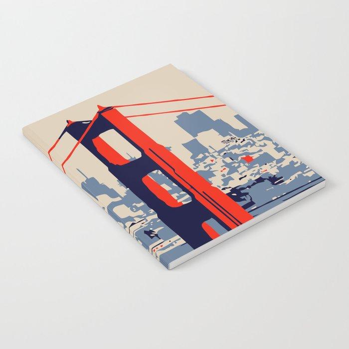 700x700 Golden Gate Bridge Vector Art Notebook By Aapshop Society6