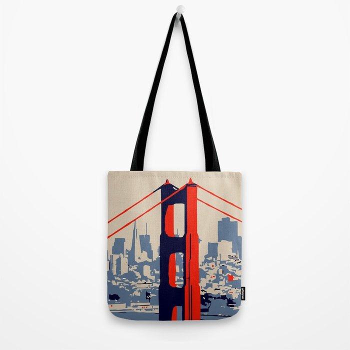 700x700 Golden Gate Bridge Vector Art Tote Bag By Aapshop Society6