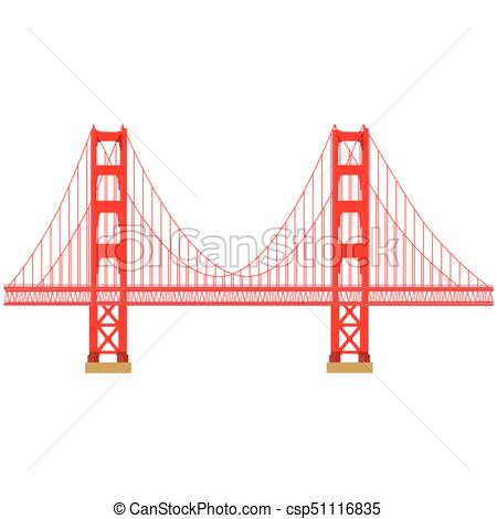 450x470 Golden Gate Vector. Vector Illustration San Francisco Golden Gate