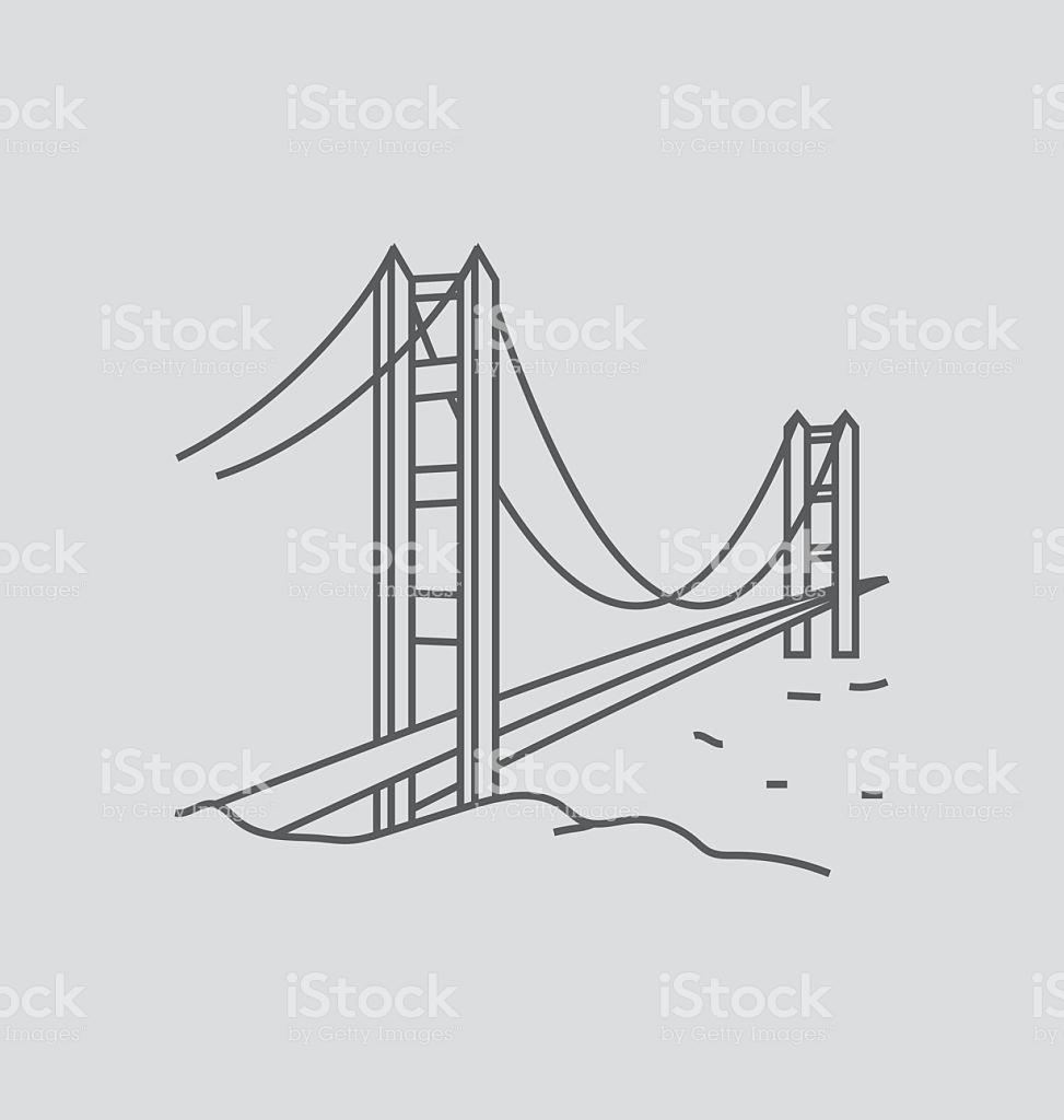 973x1024 Photos Golden Gate Bridge Line Drawing,