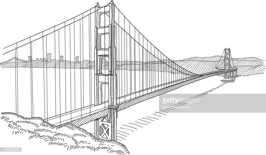 1024x597 Pictures Golden Gate Bridge Sketch,