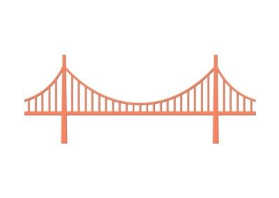 400x284 Fresh Suspension Bridge Clipart Golden Gate Bridge Vector Art And