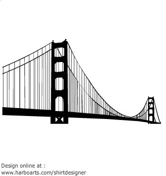 335x355 Golden Gate Bridge Silhouette Metal Golden Gate