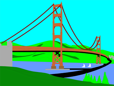 400x301 Golden Gate Bridge Vector Clip Art