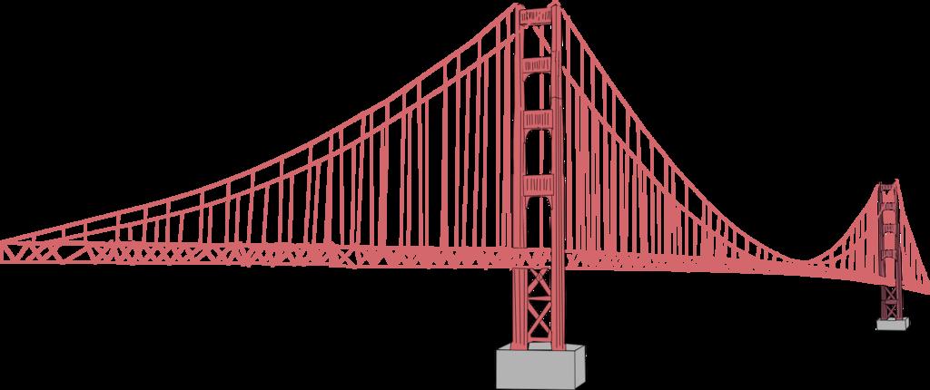 1024x430 Golden Gate Bridge Vector Illustrator File