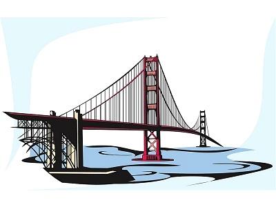 400x300 Golden Gate Clipart