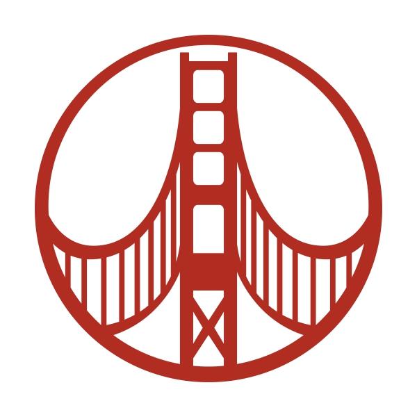 600x600 Circle Peace Golden Gate Cuttable Design