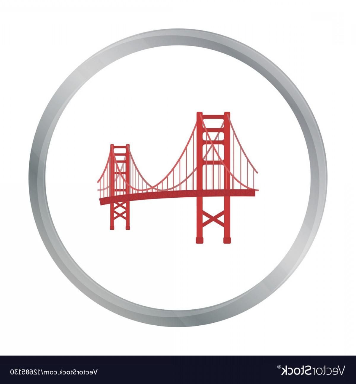 1200x1296 Golden Gate Bridge Icon In Cartoon Style Isolated Vector Shopatcloth