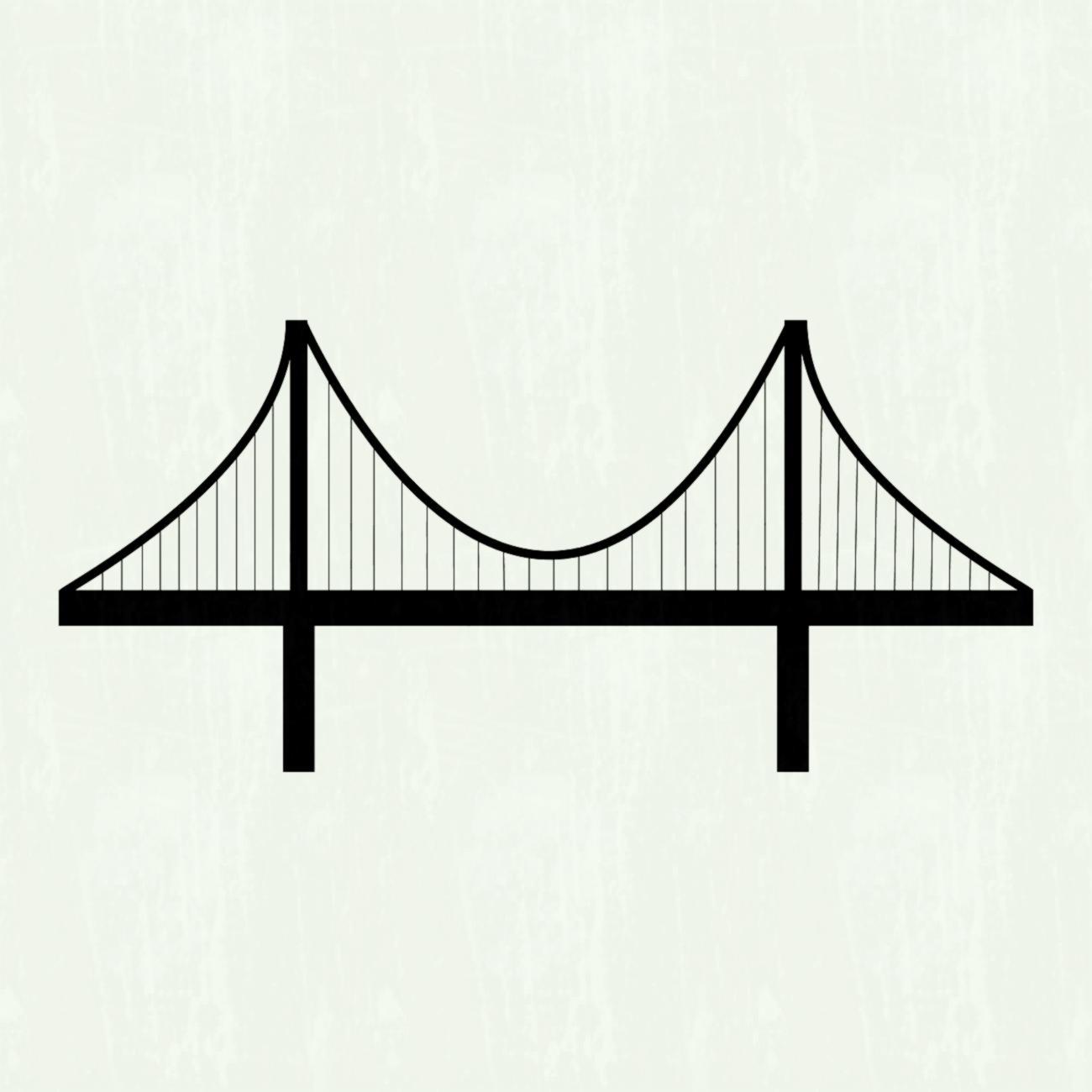 1300x1300 Golden Gate Bridge Vector Image Picturesque Clipart