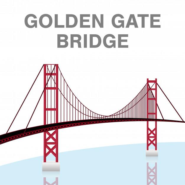 626x626 Golden Gate Bridge Vector Premium Download